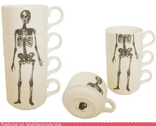 loralia516:  skeleton tea cup set