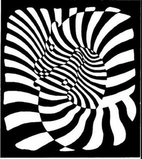 Victor Vasarely zebra3                   via
