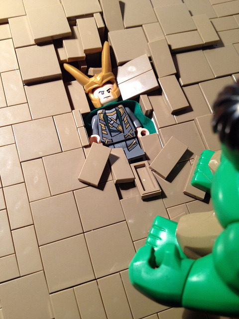 quicktothetrees:  better view of smashed Loki by wingtorn on Flickr.