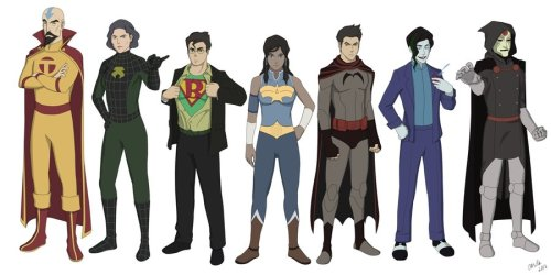 rubiwitch:  Legend of Korra Superheroes by ~jcords BATMAN MAKO <3