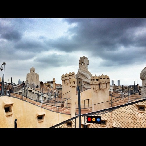 From the top of Casa Batllo #gaudi  #barcelona  (Taken with instagram)