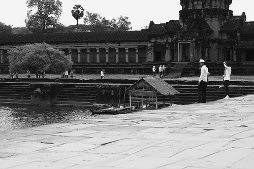 Come Together —- Boys chillin' by the moat in Angkor Wat. Imagine hanging out with friends every afternoon in this vast gem. The carvings and sculptures are amazing and this place is very well-preserved. Definitely coming back when I get the chance. :)