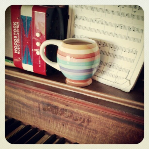 Daily mug. The house is empty/we play the piano. (Taken with instagram)
