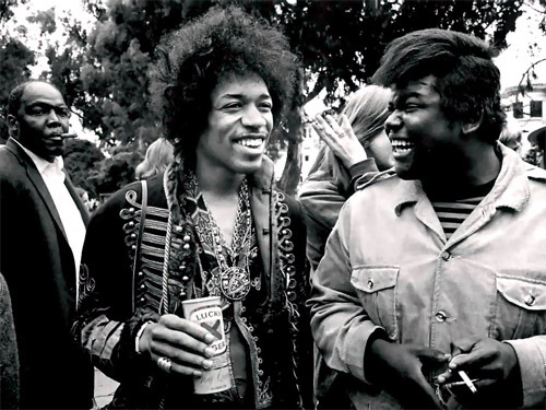 Jimi Hendrix and Buddy Miles