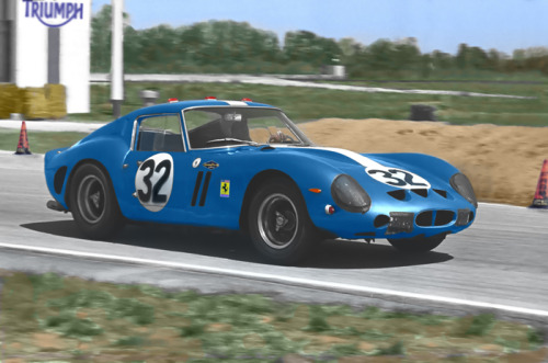 Hayes-Thiem/NART Ferrari 250 GTO #3387GT/12 Hours of Sebring/1963 (Colorized picture)