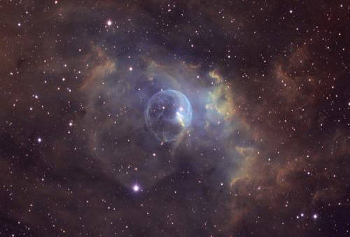 dreamturk:  Bubble Nebula (NGC 6822)