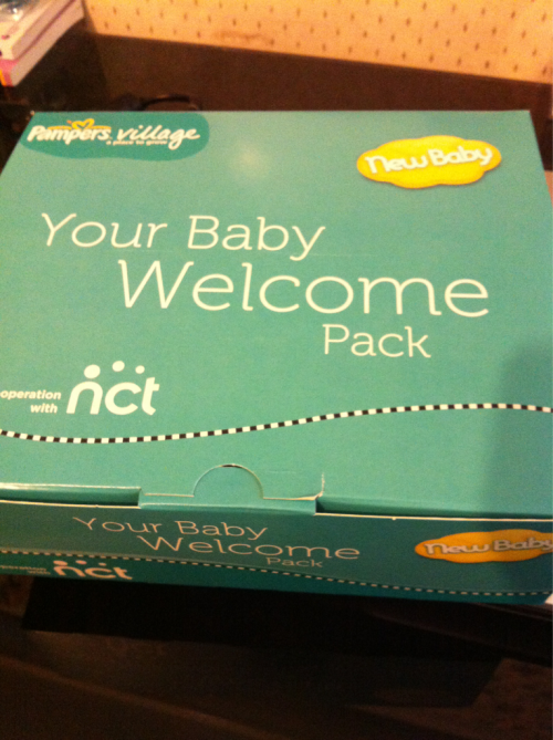Look what freebies i got from pampers, thank you =p   Less then 12weeks to go.  P.ting x