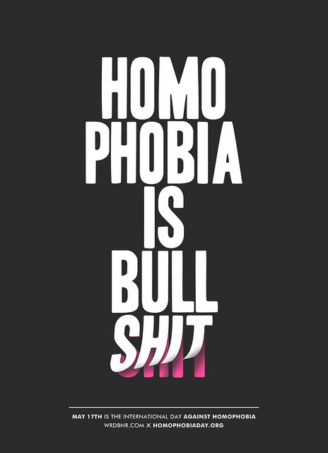 exterum:  Homophobia is BS by WRDBNR on Flickr.
