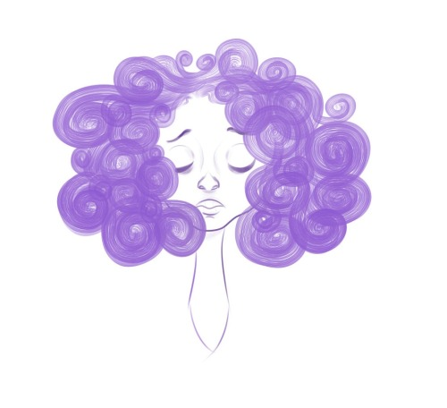 easy cure to the blues: draw big-haired girls in your color of choicemight finish this later. probably not.