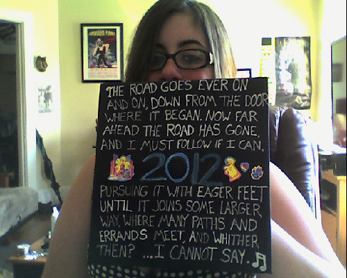 I decorated my graduation cap with a Lord of the Rings poem. :-D