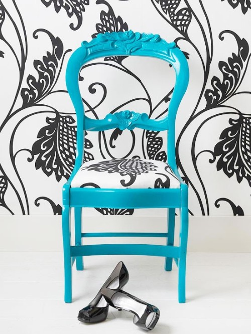 wallpaper and turquoise