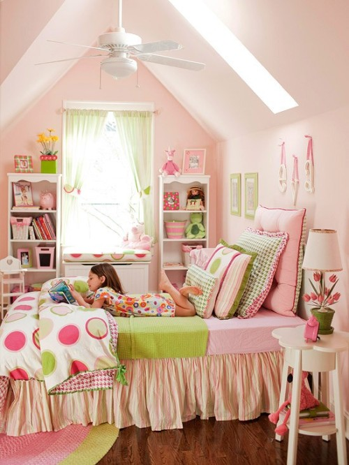 sweet, girly retreat in pastels