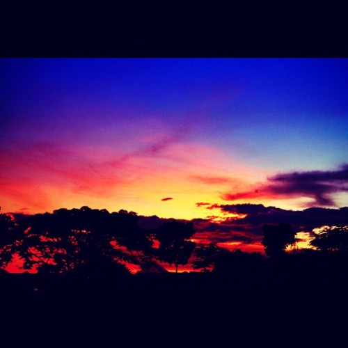 Sunset, so sexy! #landscape #photography #iphonesia #instaphoto #sunset #sky #blue #beautiful #instago #instadialy #instagood #instagramhub #gang_family (Taken with instagram)