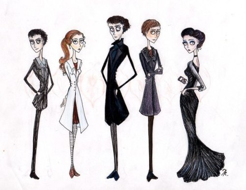sherlocked-inside-the-tardis:  julia-the-fan:  If Tim Burton was shooting Sherlock…  I think I've died and gone to heaven.