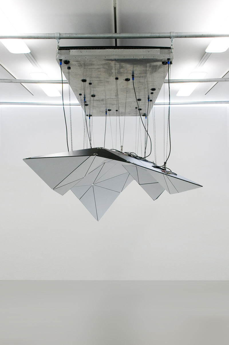 David Letellier, Tessel, 2010, installation, 400x200x300cm, kinetic sculpture installation