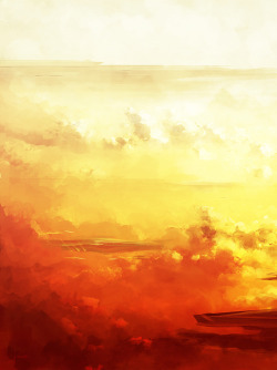 zhille:  A speedpainting. Ships in Red Atmoshpere. Photoshop.