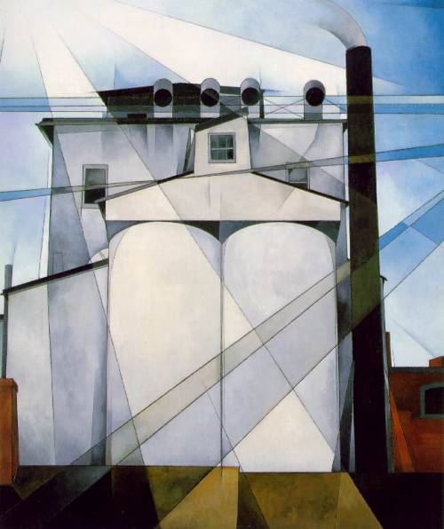 hadrianestou:  Charles Demuth - My Egypt (1927)  I love this painting. SO. MUCH. I know people normally go for good ol' Number 5, but this is probably my favorite Demuth.