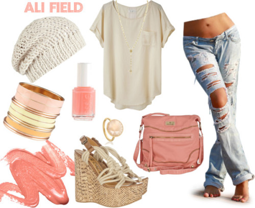 coralcasual by ali-field featuring a boatneck shirt