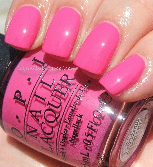 OPI Kiss Me On My Tulips. Please click through to visit my blog and read a full review and see a comparison with another popular and beautiful OPI pink.
