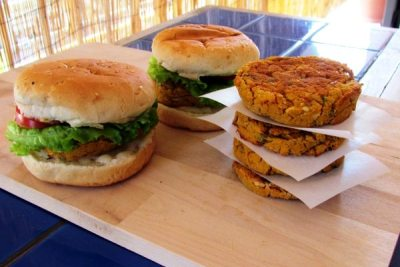 White Bean and Sweet Potato Burgers     (click image for recipe)