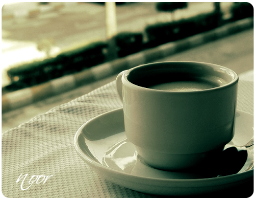 Morning Coffee ! All Rights Reserved © photographer NoorMSQ ♥ Canonsx210 \ 2010 ♥