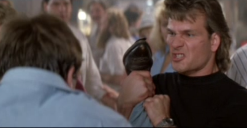 "I was watching Road House—easily one of the dumbest movies of all time—the other night, and that scene where Swayze tells a rowdy patron ""you're too stupid to have a good time,"" aside from being hilarious, struck me as also strangely poetic. If you told me it was a lyric from a National song, I would believe it."