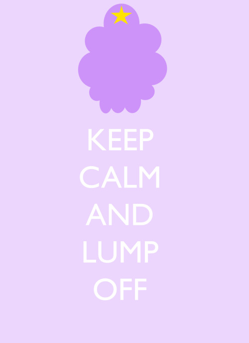 just woke up and made a quick lumpy space princess poster to get me started