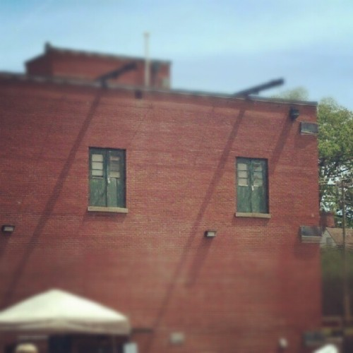 Doors to nowhere… #farmersmarket, #smithfield, #outside, #door, #building, #odd (Taken with instagram)