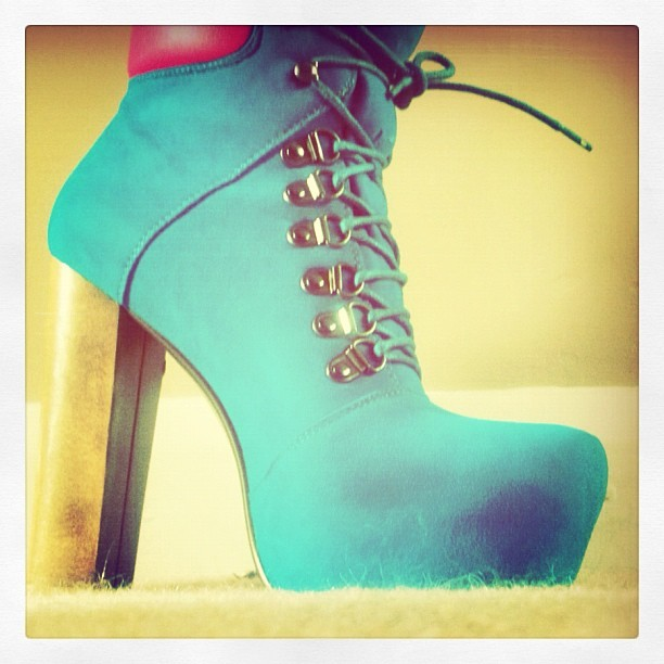 My very very #naughty #buy today #heels #shoes #laces #blue and #pink #love #them . Everyone knows nice underwear and nice shoes makes anyone feel #good  (Taken with instagram)