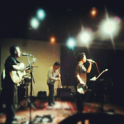 my favorite indonesian singer, bonita on stage! <3  (Taken with instagram)