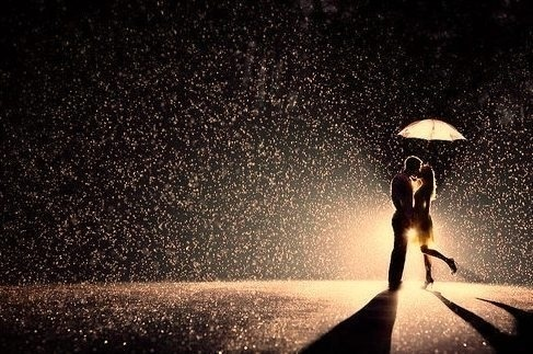 When I kiss you in the rain it feels like nothing else matters …
