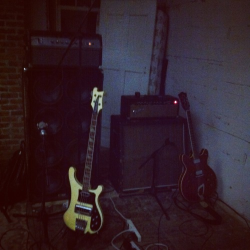 Tyler's and Josh's Rigs: Vintage 1969 Ampeg SVT Classic through matching 8x10 / 1966 Fender Bassman through vintage Marshall 4x12 w/ Celestion Blackbacks.