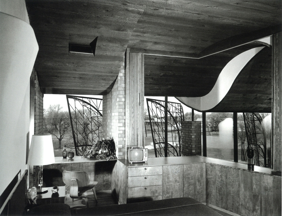 Inside the Cunningham Residence in 1962, Oklahoma City