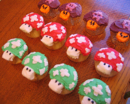 THIS ISN'T NEW! (a dozen mario cupcakes) by Rakka on Flickr.