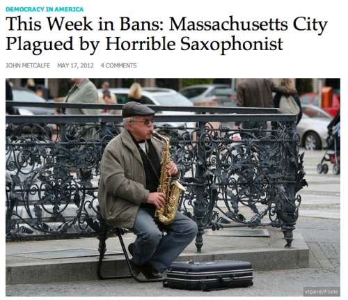 Massachusetts City Plagued by Horrible Saxophonist