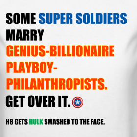 Some Super Soldiers marry Genius-Billionaire-Playboy-Philanthropists.  Get over it.