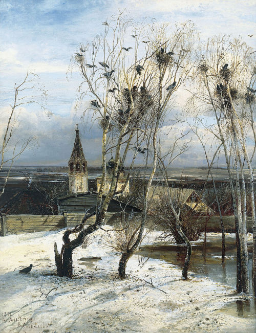 In The Rooks Have Returned (1871) by Alexei Savrasov