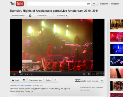 That is me lololol. Kamelot live in Amsterdam 23-04-2011. Wanna see them again <3
