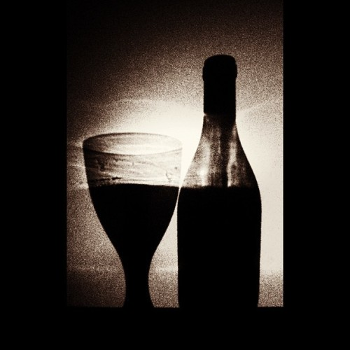 HeatonRoad_19052012 #bradfordphotoaday #vintage #hiddenbd #bradford #wine #bottle #glass #redwine #shadow #reflection #bw #bnw #blackwhite #blackandwhite #mono #monochrome #iphoneonly #hefe (Taken with instagram)