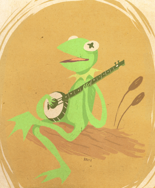The lovers, the dreamers and me… Kermit the Frog illustrated by K. Lee Kain :: vie TheRegalIdiot.deviantart.com