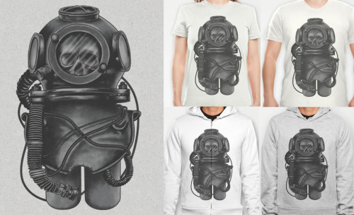 The Dead Diver Available on T-shirt, Hoodie and Zip @Society6