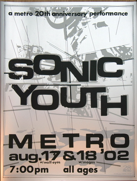 Sonic Youth, 2002. The Metro, Chicago, IL