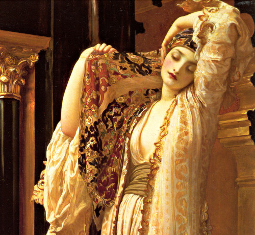 poisonwasthecure:  Light of Harem (detail) Frederic Leighton 1880