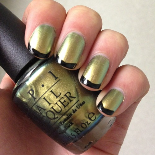 OPI - Just Spotted the Lizard (from the new spiderman collection!)CND - Blackjack