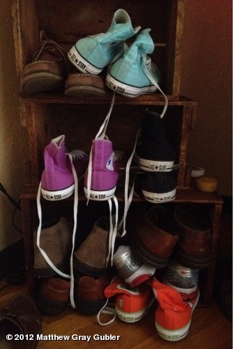 gublernation:  my shoes View more Matthew Gray Gubler on WhoSay