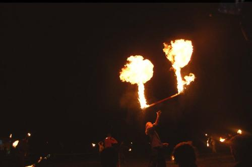bambamtoxic:  Last Kinetic Fire photo (for now) Nice fire staff spin-off burst xD