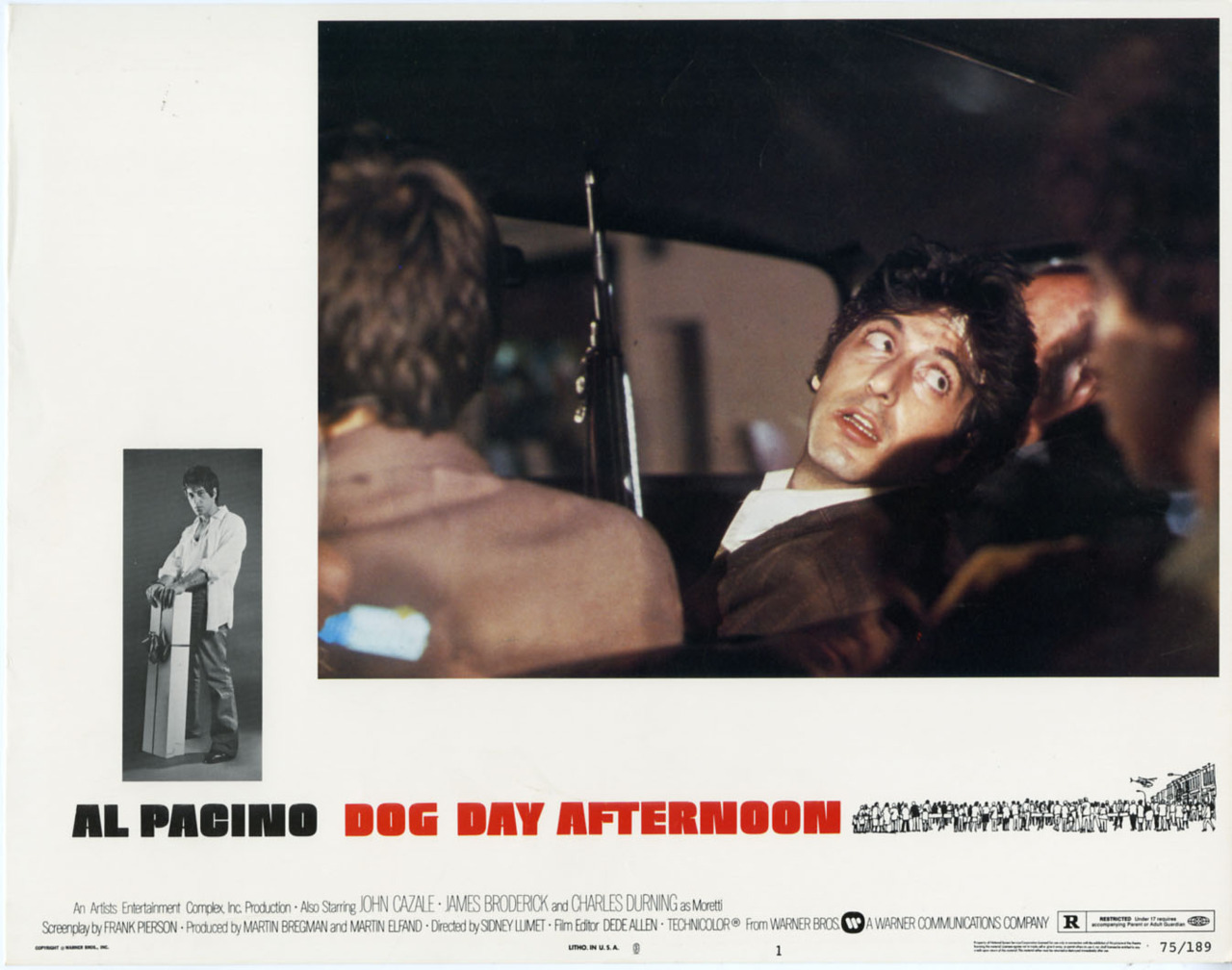 Dog Day Afternoon, US lobby card. 1975