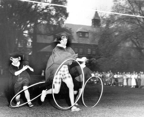 Hoop rolling, 1955.