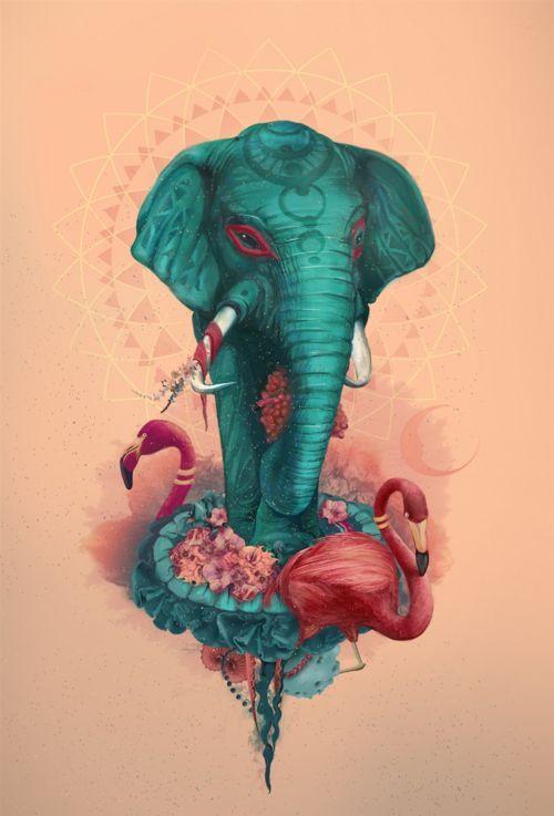indiaincredible:  An Elephant Art!!