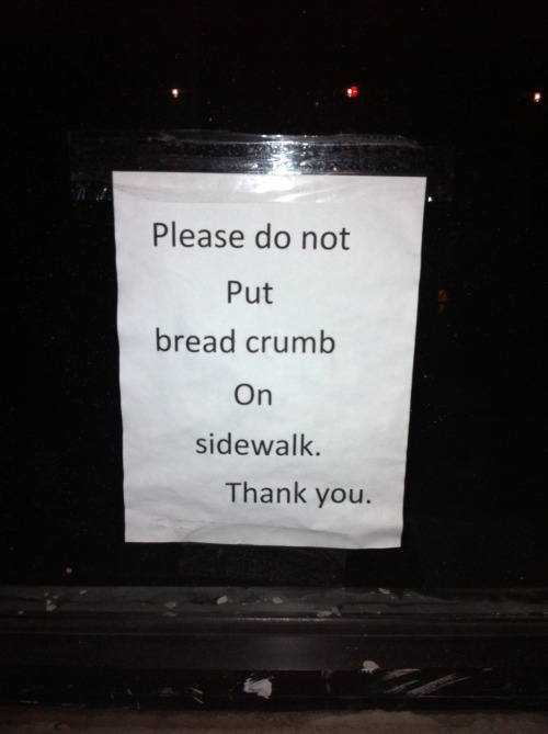 The Perilously Missing Plural: I left two bread crumbs here just because I could.